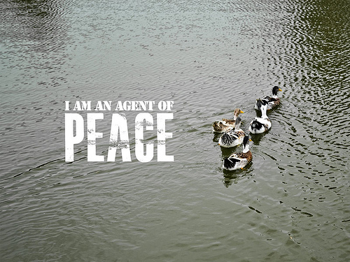 What is an affirmation: i am an agent of peace